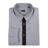 Paul Smith Shirts - Grey Contrast Placket Shirt