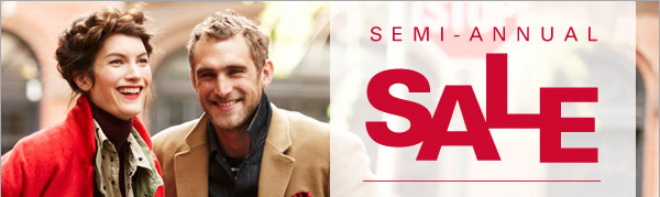 Semi-Annual Sale - Take an additional 20% Off all sale styles* online and in store