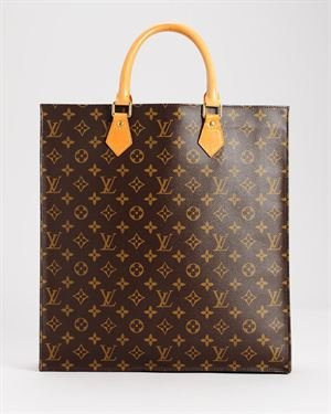 Louis Vuitton Monogram Sac Plat Tote, 8/10 Condition