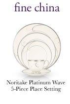 fine china Noritake Platinum Wave 5-Piece Place Setting
