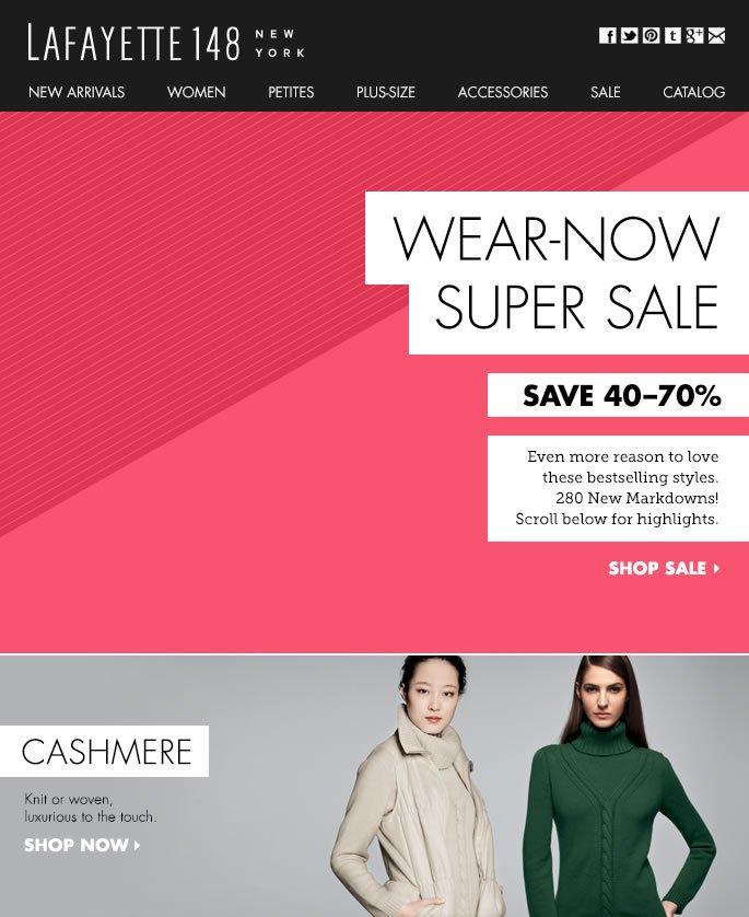 Wear-Now Super Sale: 280 New Markdowns!