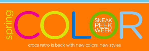 spring COLOR Sneak Peek Week - crocs retro is back with new colors, new styles