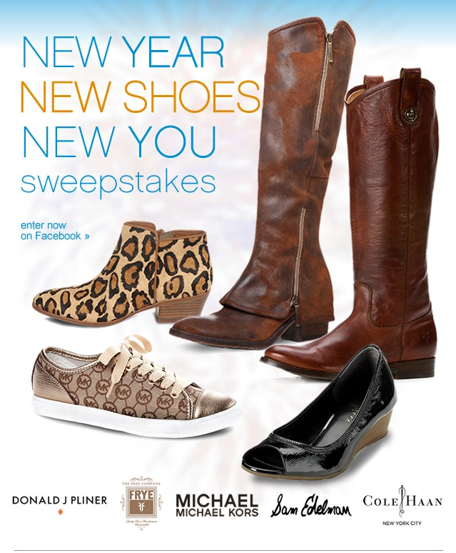 New Year, New Shoes, New You Sweepstakes. Enter now on Facebook.