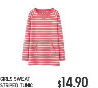 GIRLS SWEAT STRIPED TUNIC
