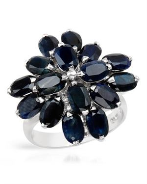 Ladies Sapphire Ring Designed In 925 Sterling Silver