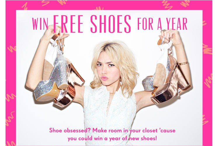 Win Free Shoes For A Year