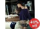 Set: Studded Knit Top + Leopard Print Tank Dress