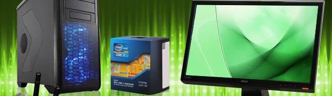 Case, CPU, LCD Monitor