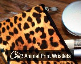 Chic Animal Print Wristlets