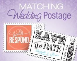 Matching Wedding Postage