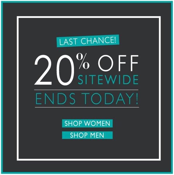 Last Chance 20% Off