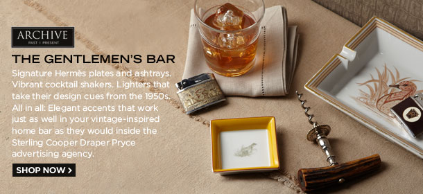 ARCHIVE: THE GENTLEMEN'S BAR, FEATURING HERMÈS ASHTRAYS, VINTAGE CORKSCREWS & MORE, Event Ends January 25, 9:00 AM PT >