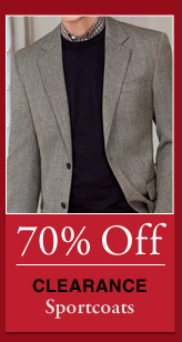 70% OFF Clearance Sportcoats
