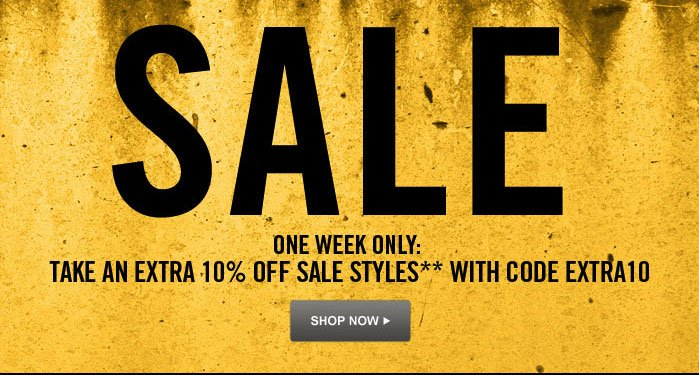 SALE One week only:  Take an extra 10% off sale styles** with code EXTRA10 Shop Now