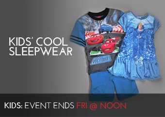 KIDS COOL SLEEPERWEAR