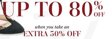 Save up to 80% off when you take 50% off
