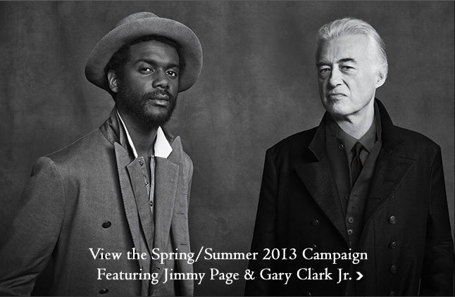 Announcing the New Campaign Featuring Jimmy Page & Gary Clark Jr.
