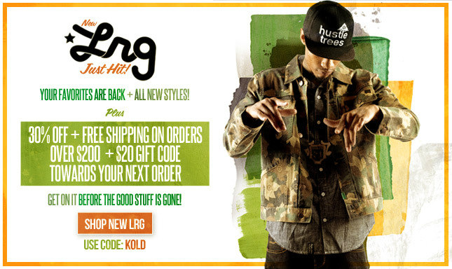 New Arrivals from LRG! Shop now and get 30% off when you spend $200 or more