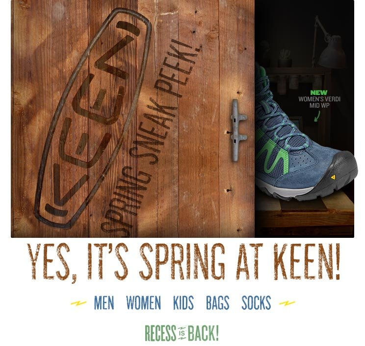 Get Grounded. Get Inspired. With KEEN.