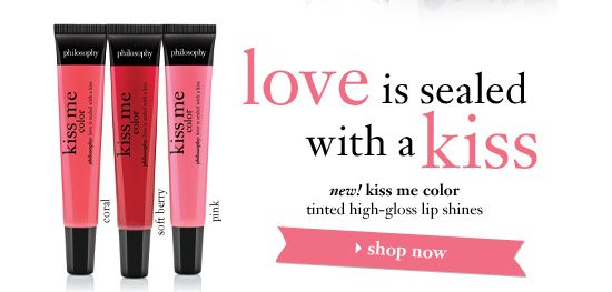 love is sealed with a kiss - new! kiss me color tinted high-gloss lip shines - shop now