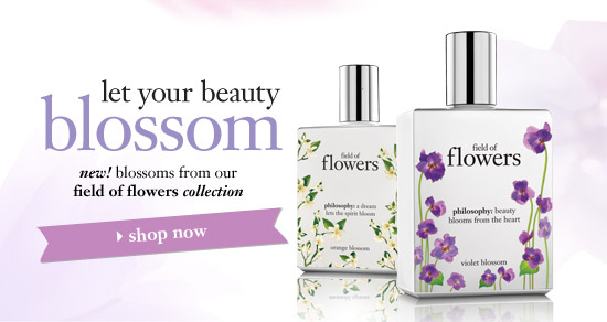 let your beauty blossom - new! blossoms from our field of flowers collection - shop now