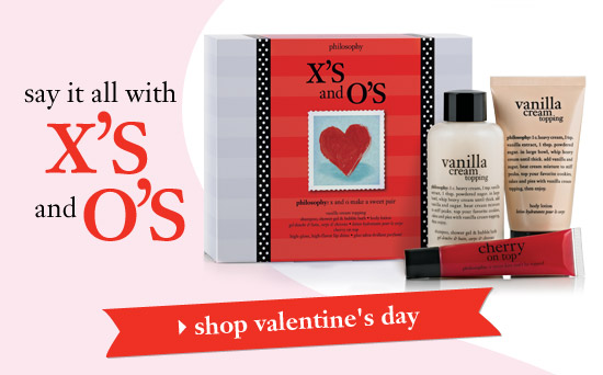 say it all with x's and o's - shop valentine's day