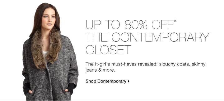 Up To 80% Off* The Contemporary Closet