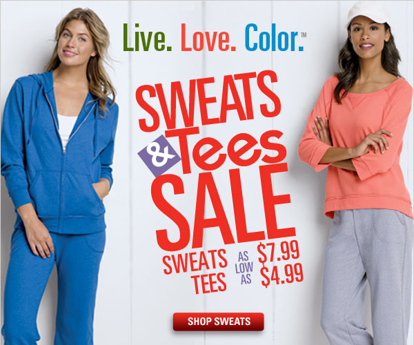 Sweats Sale as low as $7.99
