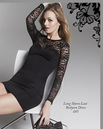 Long Sleeve Lace Bodycon Dress
