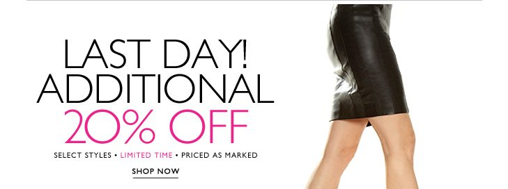 Click here to shop additional 20% off