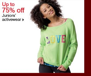 Up to 75% off Juniors' activewear