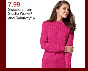 7.99 Sweaters from Studio Works® and Relativity®