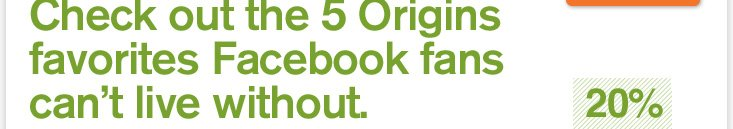 Cheeck out the 5 Origins favorites Facebook fans can not live without