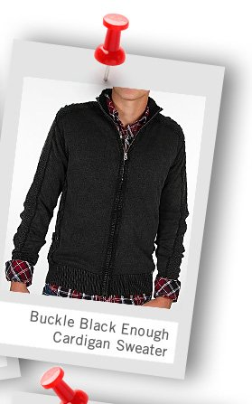 Shop Buckle Black Enough Cardigan Sweater