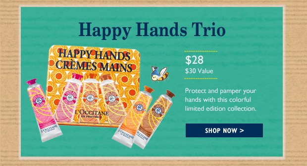 Happy Hands Trio: A trio of our Fortune Flowers hand creams for deliciously soft hands!