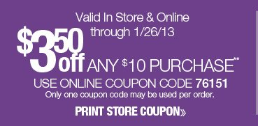$5 off any $10 purchase