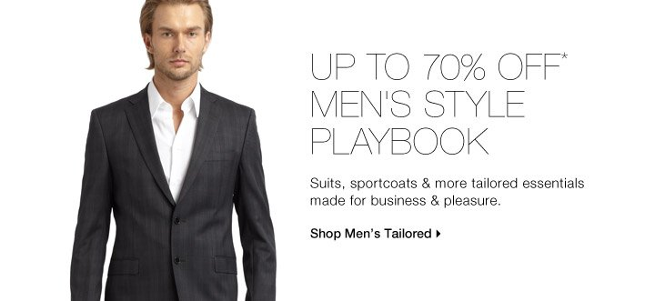 Up To 70% Off* Men's Style Playbook
