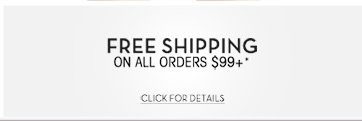 Free shipping on orders of $99 or more**