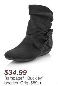 "$34.99 Rampage® ""Buckley"" booties"