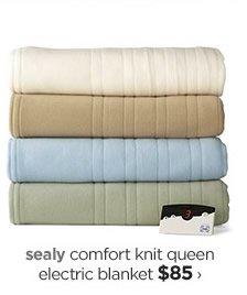 sealy comfort knit queen electric blanket $85›