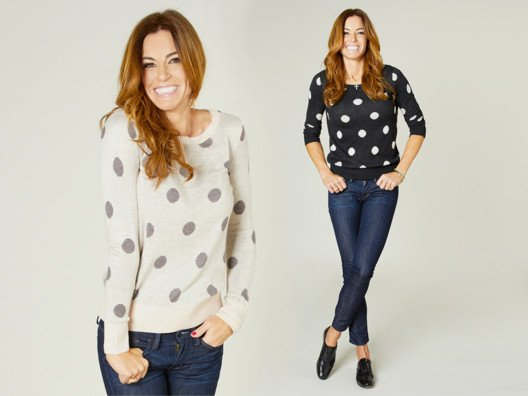 What's not to love about this top? Pair these polka dots with jeans for a casual chic look.