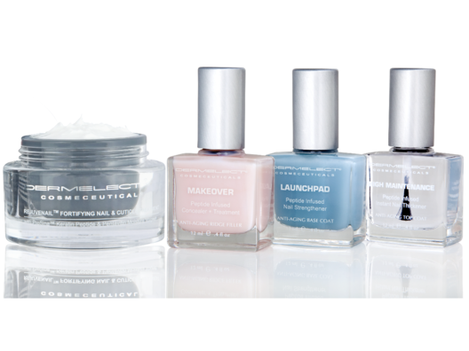 These nail polishes boast an anti-aging peptide technology similar to that I use in my own skincare line.