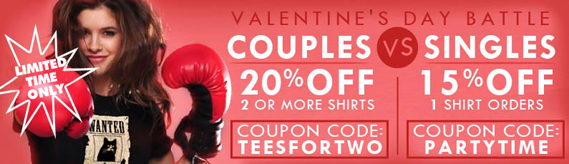 Valentine's Day Coupons!