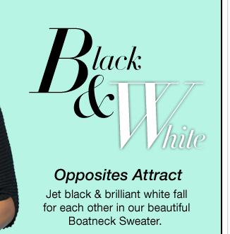 Black and White. Shop this style now!