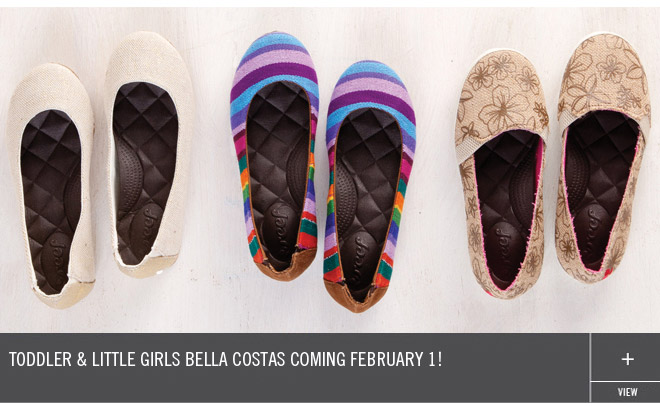 Toddler & Little Girls Bella Costas Coming February 1!