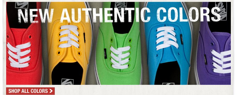 VANS New Authentic Colors!