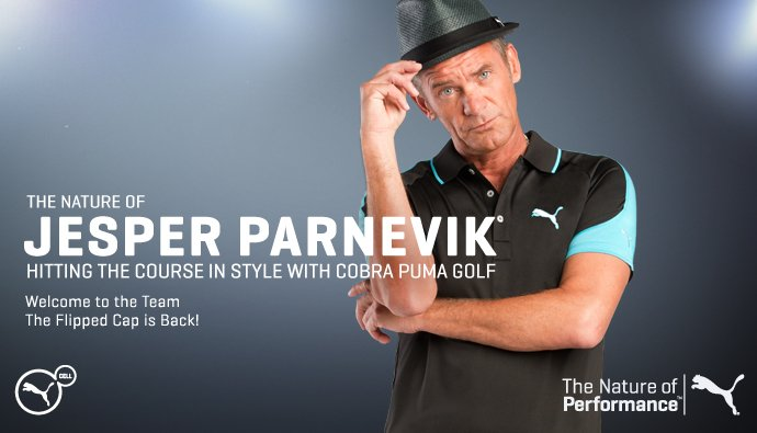 The nature of Jesper Parnevik hitting the course in style with COBRA PUMA GOLF