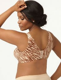 Zebra Print Serenada Back-Smoother No-Wire Zebra Bra