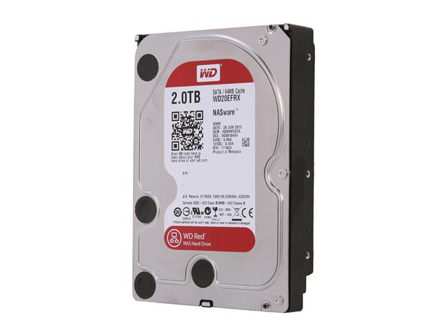 Western Digital Red WD20EFRX 2TB IntelliPower 64MB Cache SATA 6.0Gb/s 3.5 inch Internal Hard Drive - Bare Drive