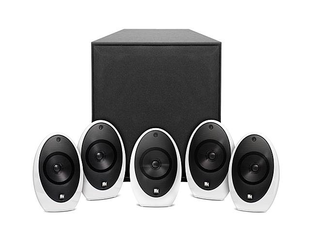 KEF KHT1005.2SE Home Audio Speaker System w/ White Satellite Speakers